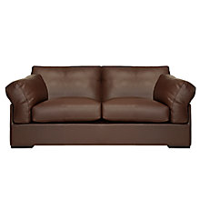 Buy John Lewis Java Medium Leather Sofa, Nature Brown Online at johnlewis.com