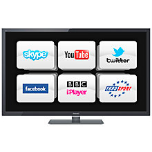 "Buy Panasonic Viera TX-L37ET5B LED HD 1080p 3D Smart TV, 37"" with Freeview HD and 4x 3D Glasses Online at johnlewis.com"