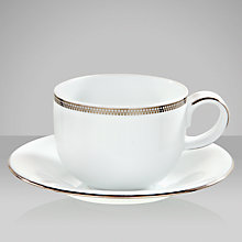 Buy John Lewis Platinum Dot Teacup and Saucer Online at johnlewis.com