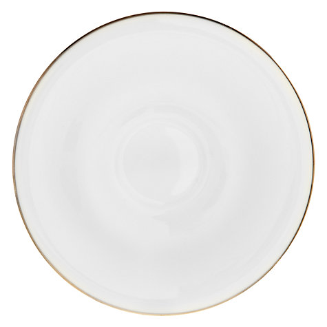 Buy John Lewis Platinum Dot Teacup and Saucer, White Online at johnlewis.com