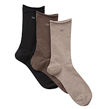 Buy Calvin Klein Rolltop Crew Socks, Pack of 3 Online at johnlewis.com
