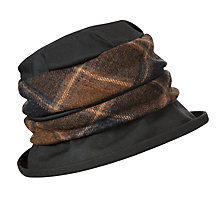 Buy Olney Margot Wax and Tweed Hat, Black Online at johnlewis.com