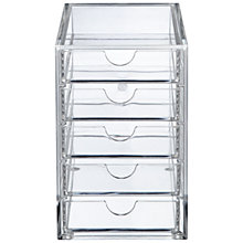 Buy Oscar 5 Drawer Acrylic Desk Storage Unit Online at johnlewis.com