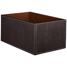 Buy John Lewis Faux Leather Fixed Side Box, Brown Online at johnlewis.com