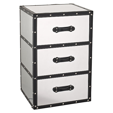 Buy John Lewis Aluminium Storage Unit, 3 Drawers Online at johnlewis.com