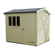 Buy Crane FSC Windsor Garden Shed, 1.8 x 2.4m Online at johnlewis.com