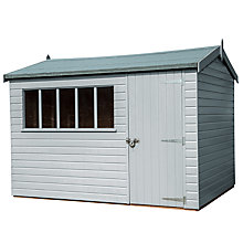 Buy Crane 3 x 3.6m Windsor Garden Shed, FSC-certified (Scandinavian Redwood) Online at johnlewis.com