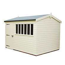 Buy Crane 3 x 3.6m Balmoral Garden Shed, FSC-certified (Scandinavian Redwood) Online at johnlewis.com