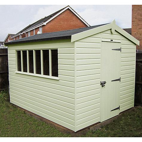 Buy crane 3 x kensington garden shed fsc certified for Garden shed qatar
