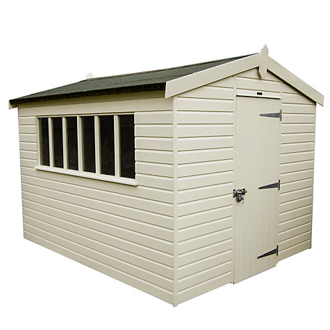 Buy Crane FSC Kensington Garden Shed, 3 x 3.6m Online at johnlewis.com