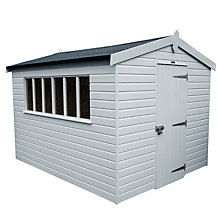 Buy Crane 3 x 3.6m Kensington Garden Shed, FSC-certified (Scandinavian Redwood) Online at johnlewis.com