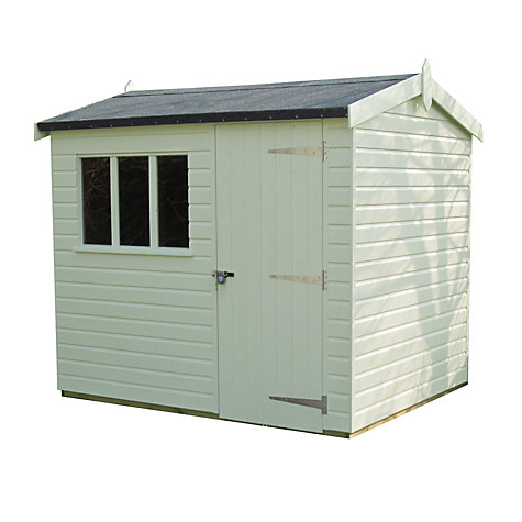 Buy Crane 1.8 x 2.4m Windsor Garden Shed, FSC-certified (Scandinavian Redwood) Online at johnlewis.com