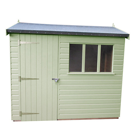 Buy Crane 1.8 x 2.4m Balmoral Garden Shed, FSC-certified (Scandinavian Redwood) Online at johnlewis.com