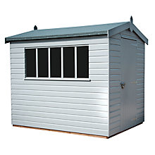 Buy Crane 1.8 x 2.4m Kensington Garden Shed, FSC-certified (Scandinavian Redwood) Online at johnlewis.com