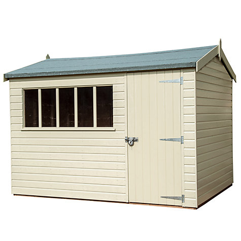 Buy Crane 1.8 x 3m Windsor Garden Shed, FSC-certified (Scandinavian Redwood) Online at johnlewis.com