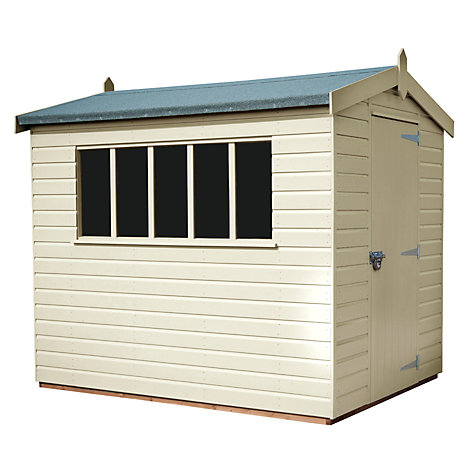 Buy Crane FSC Kensington Garden Shed, 1.8 x 3m Online at johnlewis.com