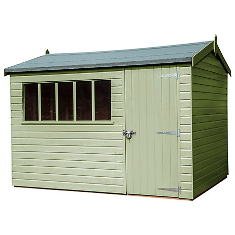 Buy Crane Windsor Garden Shed, 2.4 x 3m Online at johnlewis.com