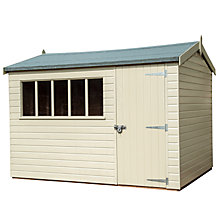 Buy Crane 2.4 x 3m Windsor Garden Shed, FSC-certified (Scandinavian Redwood) Online at johnlewis.com