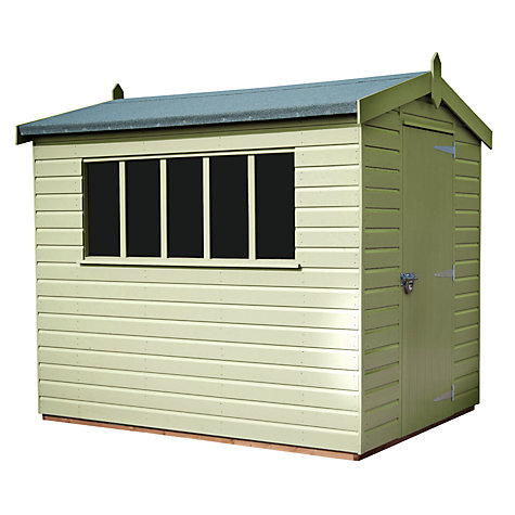 Buy Crane 2.4 x 3m Kensington Garden Shed, FSC-certified (Scandinavian Redwood) Online at johnlewis.com