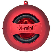 Buy XMI X-Mini II Capsule Speaker, Red Online at johnlewis.com
