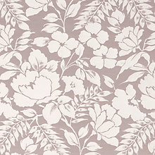 Buy John Lewis Wild Woven Floral Fabric, Mauve Online at johnlewis.com