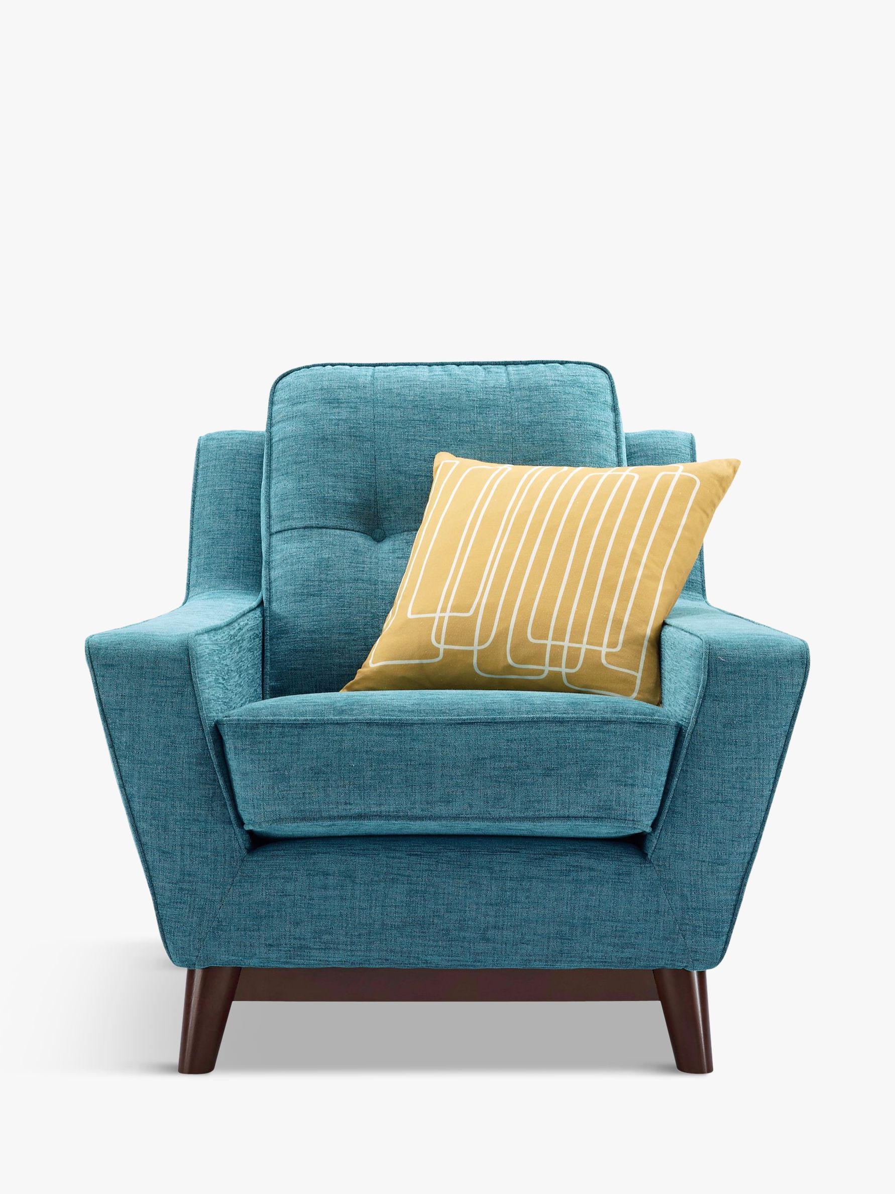 G Plan Vintage The Fifty Three Armchair, Fleck Blue