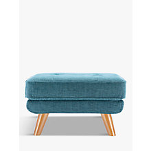 Buy G Plan Vintage The Fifty Three Footstool, Fleck Blue Online at johnlewis.com