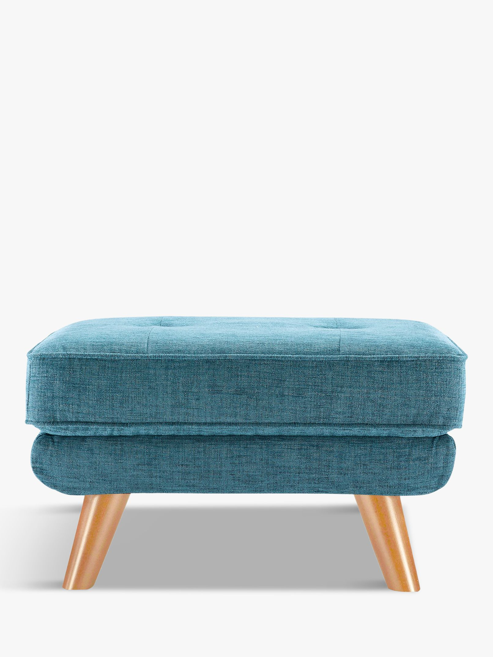 G Plan Vintage The Fifty Three Footstool, Fleck Blue
