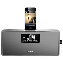 Buy Philips AJB7038D DAB/FM iPod Dock, Silver Online at johnlewis.com