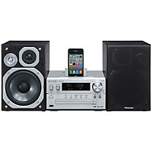 Buy Panasonic SC-PMX5 DAB Micro System/iPod Dock, Black Online at johnlewis.com