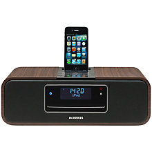 Buy ROBERTS SOUND 100 DAB/FM/CD iPod Dock Radio, Walnut Online at johnlewis.com