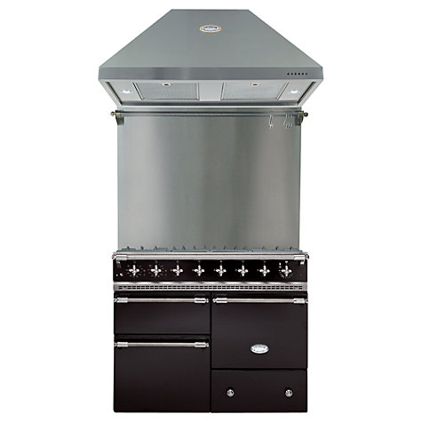 Buy Lacanche Macon LG1053GEBKCHAPK1 Dual Fuel Cooker, Hood and Splashback, Black / Chrome Trim Online at johnlewis.com