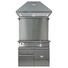 Buy Lacanche Macon LG1053GESSCHAPK1 Dual Fuel Cooker, Hood and Splashback, Stainless Steel / Chrome Trim Online at johnlewis.com