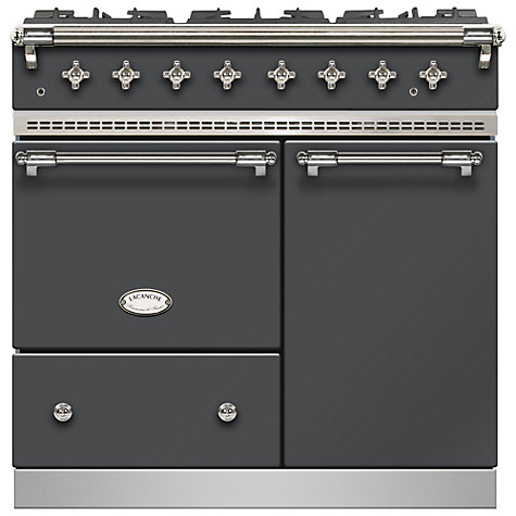 Buy Lacanche Beaune LG962GCTDANTCHA Dual Fuel Range Cooker, Anthracite / Chrome Trim Online at johnlewis.com