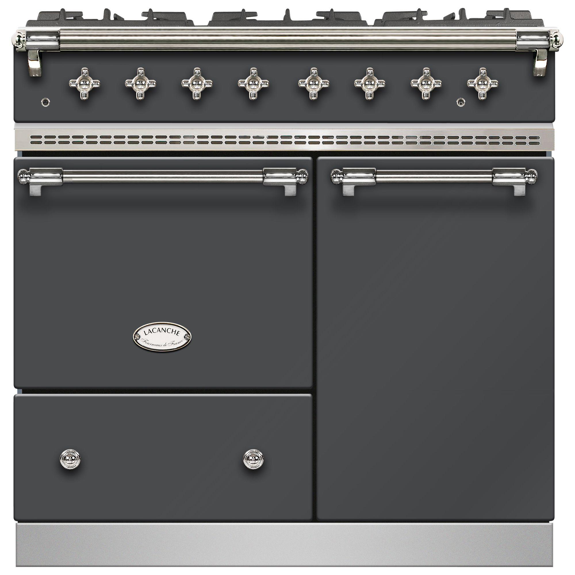 Lacanche Lacanche Beaune LG962GCTDANTCHA Dual Fuel Range Cooker, Anthracite / Chrome Trim
