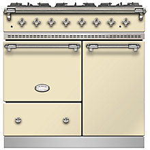 Buy Lacanche Beaune LG962GCTDCRCHA Dual Fuel Range Cooker, English Cream / Chrome Trim Online at johnlewis.com