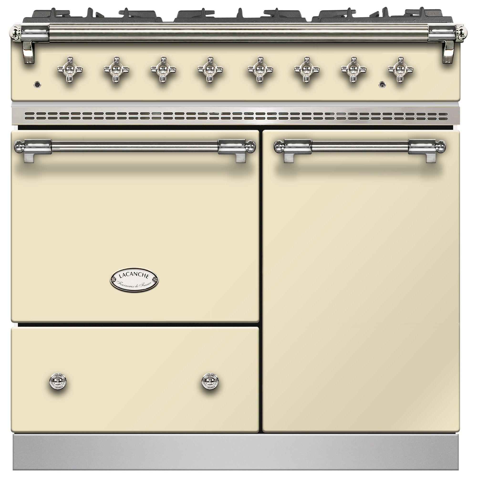 Lacanche Lacanche Beaune LG962GCTDCRCHA Dual Fuel Range Cooker, English Cream / Chrome Trim