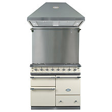 Buy Lacanche Macon LG1053GEIVCHAPK1 Dual Fuel Cooker, Hood and Splashback, Ivory / Chrome Trim Online at johnlewis.com