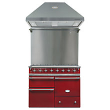 Buy Lacanche Macon LG1053GERBCHAPK1 Dual Fuel Cooker, Hood and Splashback, Burgundy Red / Chrome Trim Online at johnlewis.com