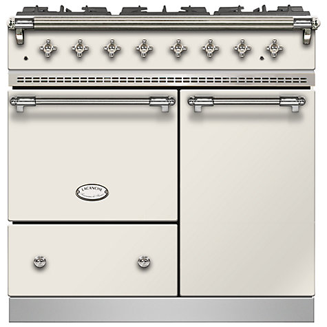 Buy Lacanche Beaune LG962GCTDIVCHA Dual Fuel Range Cooker, Ivory / Chrome Trim Online at johnlewis.com
