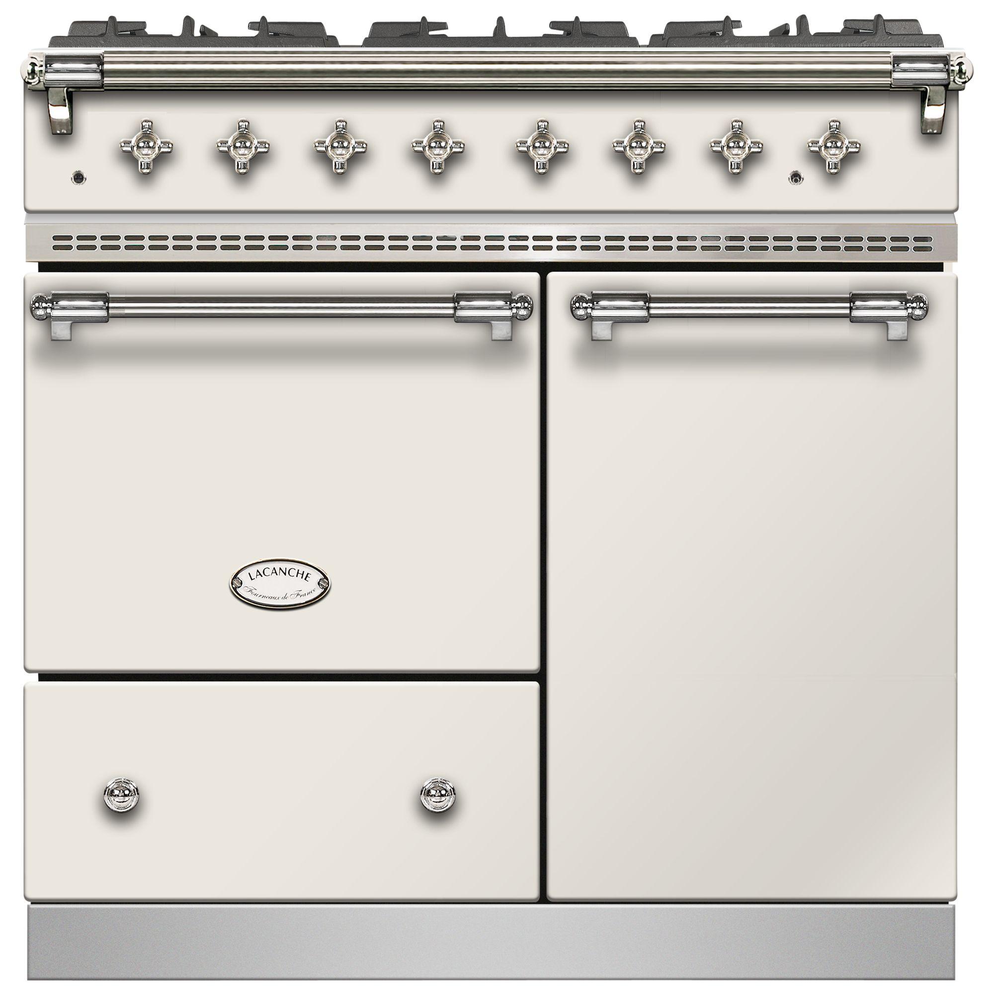 Lacanche Lacanche Beaune LG962GCTDIVCHA Dual Fuel Range Cooker, Ivory / Chrome Trim