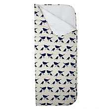 Buy Anorak Kissing Robins Sleeping Bag, Navy/Cream Online at johnlewis.com