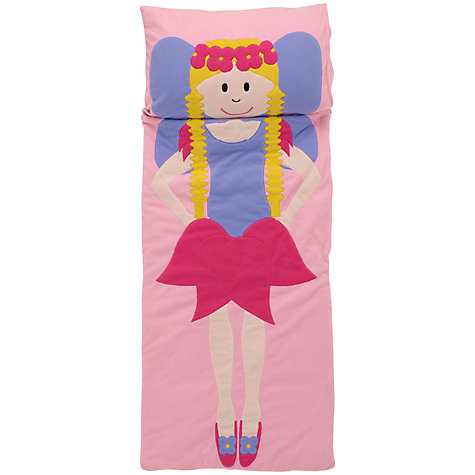 Buy little home at John Lewis Snuggle Sac Fairy Sleeping Bag, Pink Online at johnlewis.com