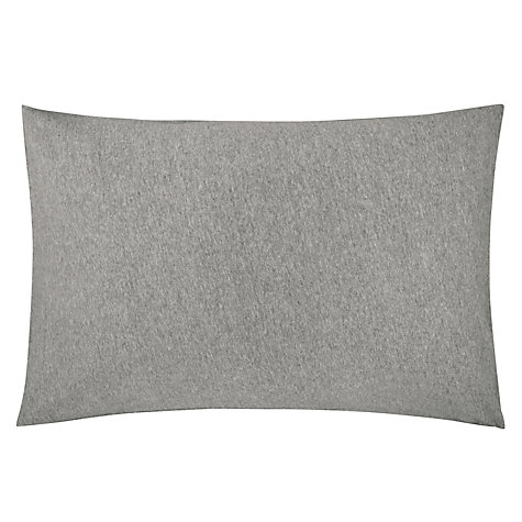 Buy House by John Lewis Jersey Marl Standard Pillowcases, Grey, Pair Online at johnlewis.com