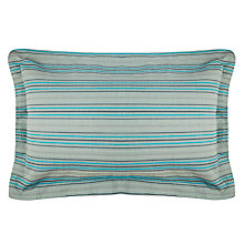 Buy House by John Lewis Karson Oxford Pillowcases, Grey/Teal, Pair Online at johnlewis.com