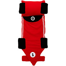 Buy little home at John Lewis Snuggle Sac Racing Car Sleeping Bag, Red Online at johnlewis.com