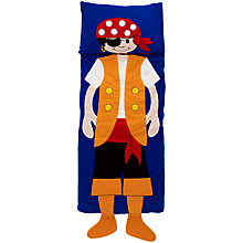 Buy little home at John Lewis Snuggle Sac Pirate Sleeping Bag, Multi Online at johnlewis.com