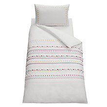 Buy little home at John Lewis Around The Maypole Single Duvet Cover Set, Pink Online at johnlewis.com