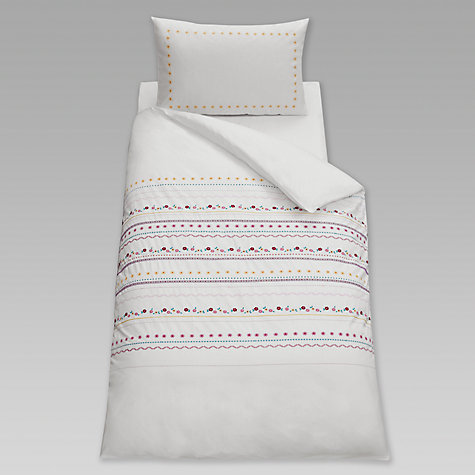 Buy little home at John Lewis Around The Maypole Single Duvet Cover and Pillowcase Set, Pink Online at johnlewis.com