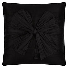 Buy Ted Baker Bow Pleated Boudoir Cushion, Black Online at johnlewis.com